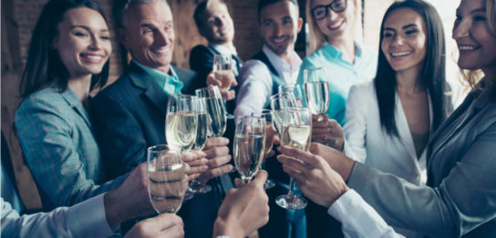 Business-people-cheers